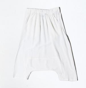 OAK Square Gusset Short Silk White $168