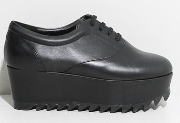 OAK Platform Sneaker Black Leather $124