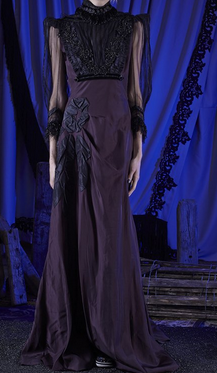 Vintage Taffeta Long-Sleeved Draped Gown $7,000