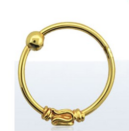18KT Gold Plated Nose Ring Hoop Tribal $9.99