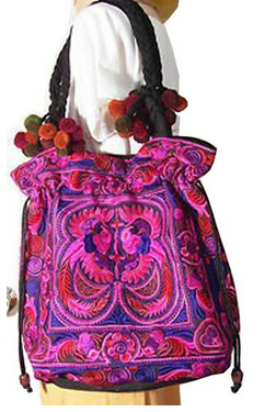 Rhapsody Hmong Tribal Ethnic Thai Indian Vintage Style Embroidered Hobo Shoulder Bag $39.99