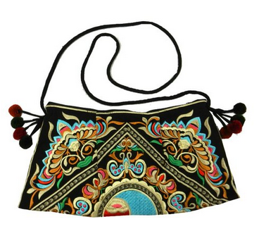 BTP! HMONG Bag Swingpack Hill Tribe Ethnic Embroidered Sling Crossbody Hippie Boho Hobo Shoulder Purse $23.99