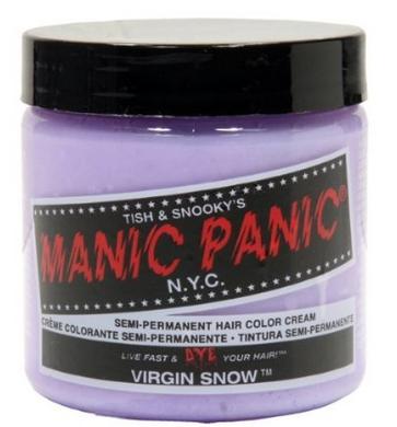 MANIC PANIC Semi-Permanent Hair Color Cream Virgin Snow $8.99