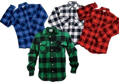Hunter's Buffalo Plaid Flannel Shirt 2X-3X-4X $37.81