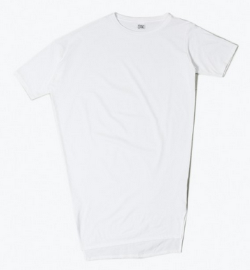 OAK Long Drop Shoulder Tee White $98
