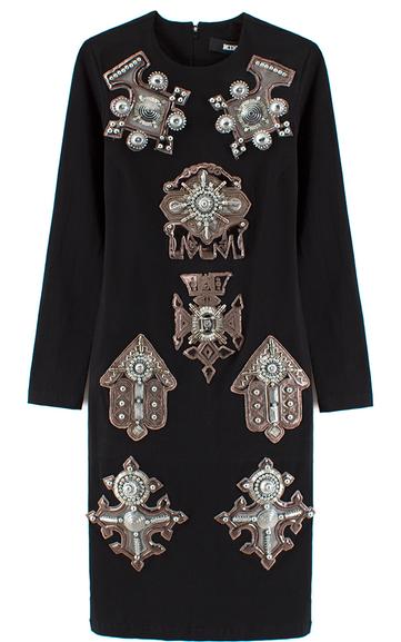KTZ Berbere Jewel Patch Body con Dress $890