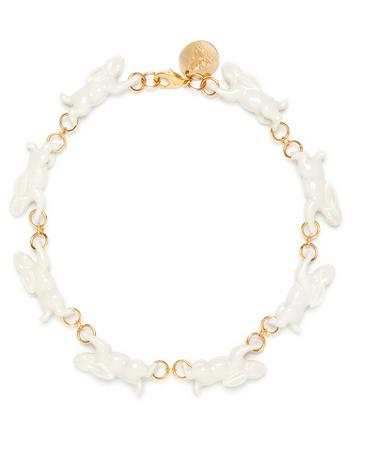 Andresgallardo Running Rabbit Necklace $375