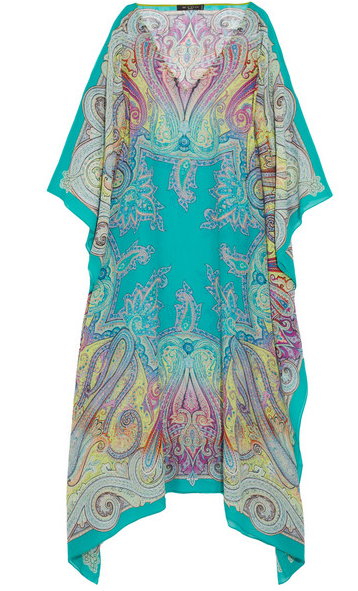 ETRO Paisley-print silk-chiffon kaftan $465