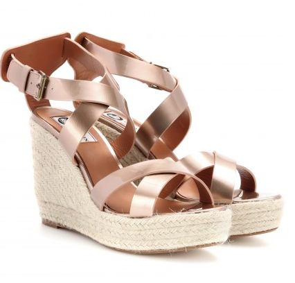 Lanvin Straw Wedge Sandals $695