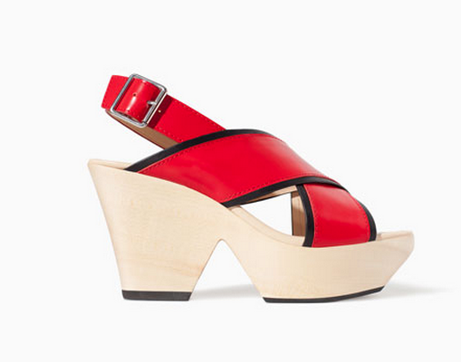 Zara Leather Wedge Cross Strap Sandals $59.99