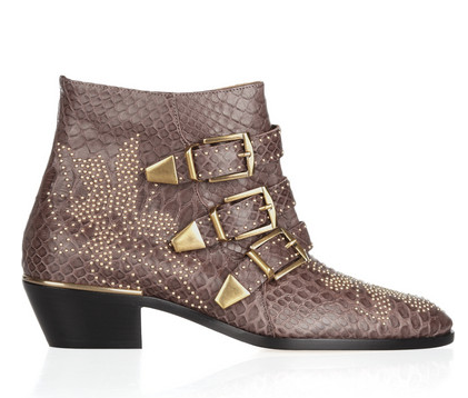 Chloe Studded Python Ankle Boots $1750