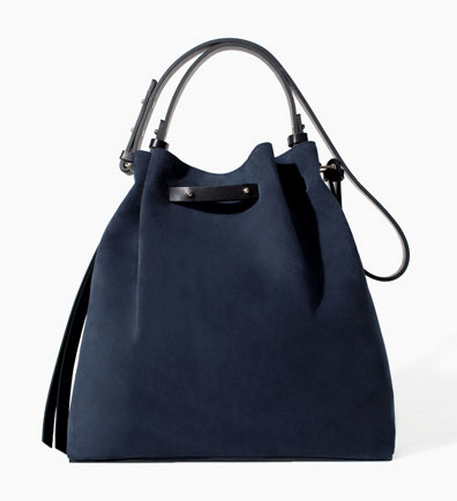 Zara Leather & Suede Bucket Bag $129
