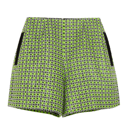 Carven Cotton Tweed Shorts $185