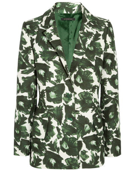 Mother of Pearl Printed Cotton Blazer $406