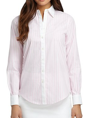 Brooks Brothers Classic Wide Stripe Dress Shirt $98