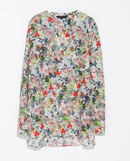 Zara Long Printed Shirt $69.90
