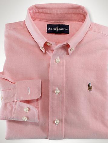Ralph Lauren Solid Oxford Sport Shirt $45