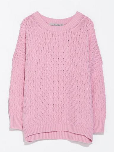 Zara Cable Stitch Oversized Sweater $59.90