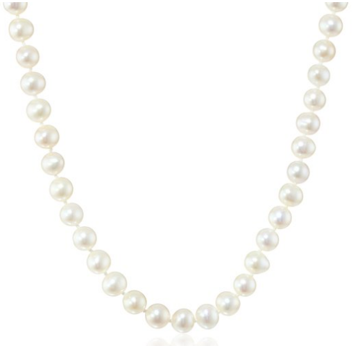 White A Quality Fresh Water Pearl 16 in Necklace $48