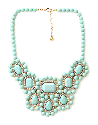 Forever 21 Candy Coated Bib Necklace $14.80
