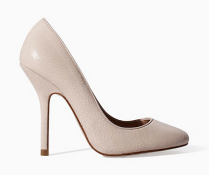 Zara Cracked Leather Pumps $89.99