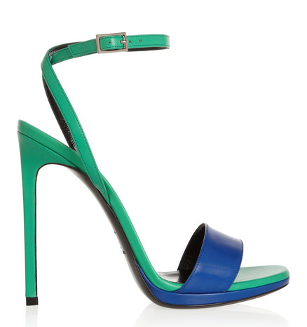 Saint Laurent Two Tone Leather Sandals $477