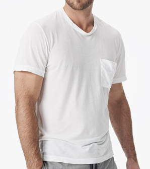 James Perse Clear Jersey Pocket Crew $95