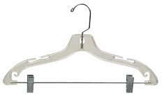 Plastic Dress Hanger with Clips