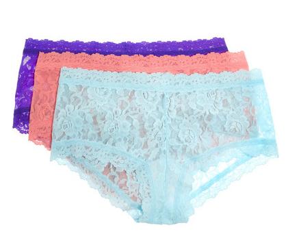 Hanky Panky Set of Three Lace Boy Shorts $60.90