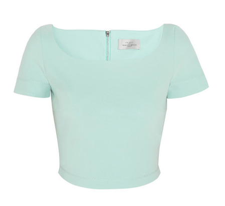 PREEN BY THORNTON BREGAZZI Zone cropped stretch-crepe top $485