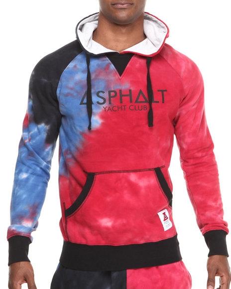 Asphalt Yacht Club - Men Blue Tie Dye Fleece Hoodie $79