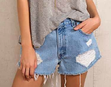 Urban Renewal Destroyed Denim Short $49