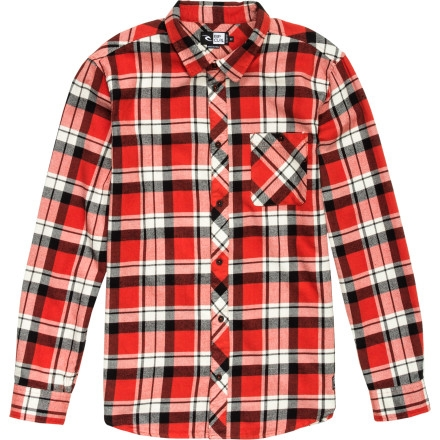 Rip Curl Hot Curl Flannel Shirt - Long-Sleeve - Men's Red $43.56