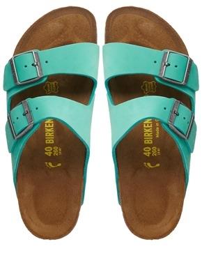 Birkenstock Arizona Leather Mint Green Flat Sandals Shop With Sally Sally Lyndley Fashion Stylist