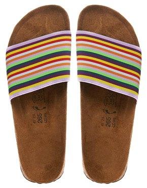 Birkies By Birkenstock Belau Rainbow Stripe Slider Sandals Shop With Sally Sally Lyndley Fashion Stylist