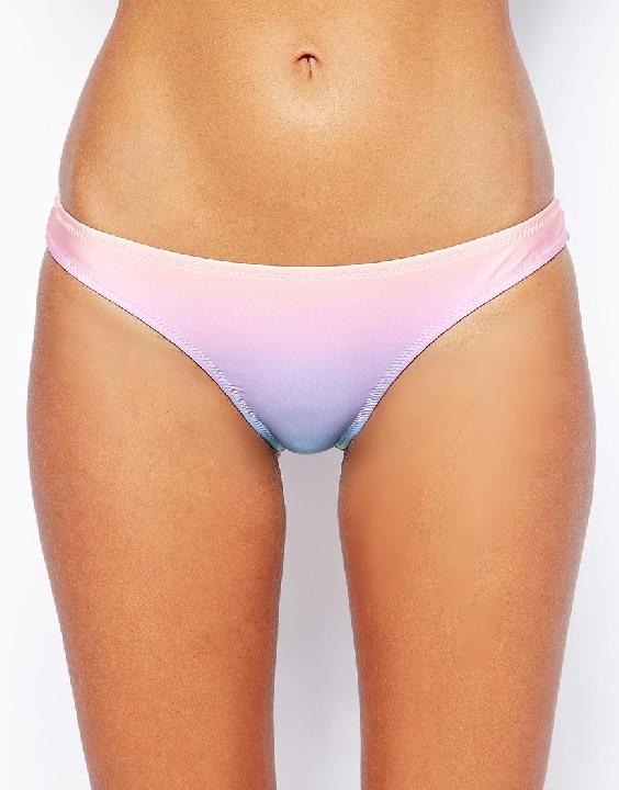ASOS Sherbet Pastel Ombre Brazilian Bikini Bottom Shop With Sally Sally Lyndley Fashion Stylist