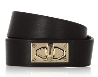 GIVENCHY Shark Lock bracelet in leather and gold-tone brass Shop With Sally Sally Lyndley Fashion Stylist