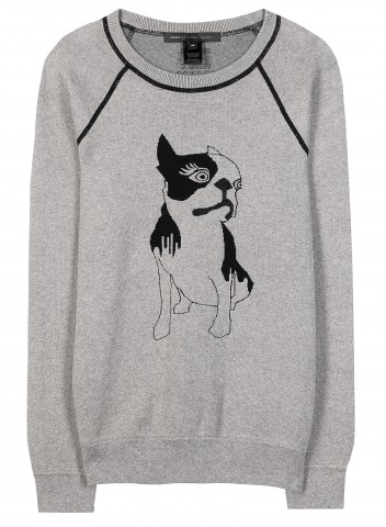 MARC BY MARC JACOBS Olive dog-intarsia cotton-blend sweatshirt Shop With Sally Sally Lyndley Fashion Stylist