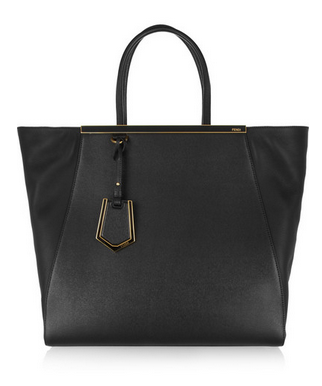 FENDI 2Jours large textured-leather shopper Shop With Sally Sally Lyndley Fashion Stylist