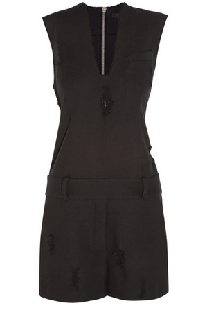 ALEXANDER WANG Distressed cotton-twill playsuit Shop With Sally Sally Lyndley Fashion Stylist