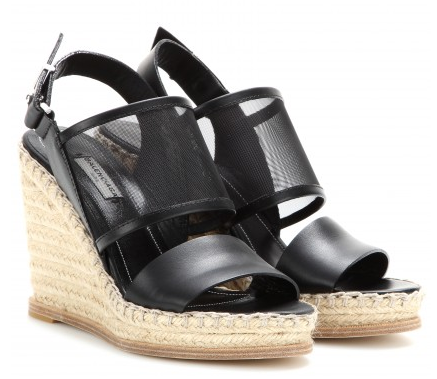 BALENCIAGA Mesh and leather espadrille wedge sandals Shop With Sally Sally Lyndley Fashion Stylist