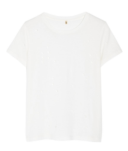 R13 Distressed Sydney cotton and cashmere-blend T-shirt Shop With Sally Sally Lyndley Fashion Stylist