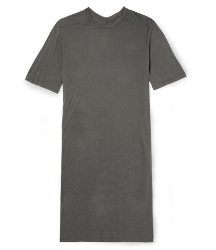 RICK OWENS  OVERSIZED LONG-LENGTH JERSEY T-SHIRT Shop With Sally Sally Lyndley Fashion Stylist