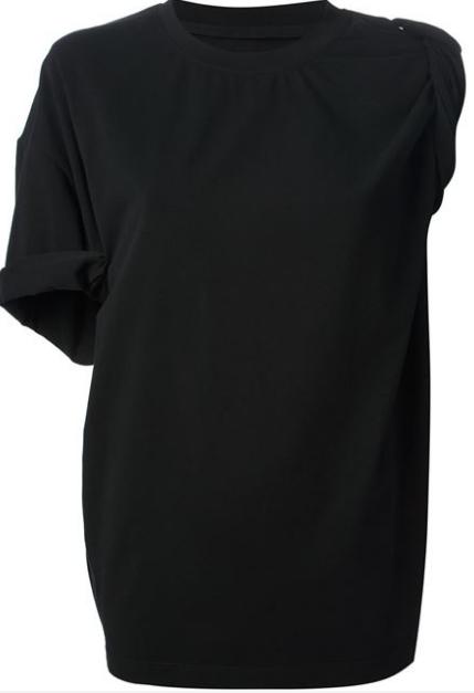 MAISON MARTIN MARGIELA asymmetric sleeve t-shirt Shop With Sally Sally Lyndley Fashion Stylist