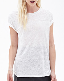 Forever 21 Heathered Linen Tee Shop With Sally Sally Lyndley Fashion Stylist