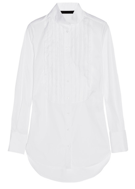 KARL LAGERFELD Emma pleated stretch cotton-blend shirt Shop With Sally Sally Lyndley Fashion Stylist