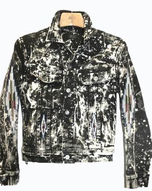EMBROIDERED BLEACHED-BLACK JEAN JACKET Shop With Sally Sally Lyndley Fashion Stylist