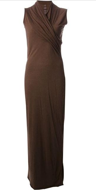 RICK OWENS draped dress Shop With Sally Sally Lyndley Fashion Stylist