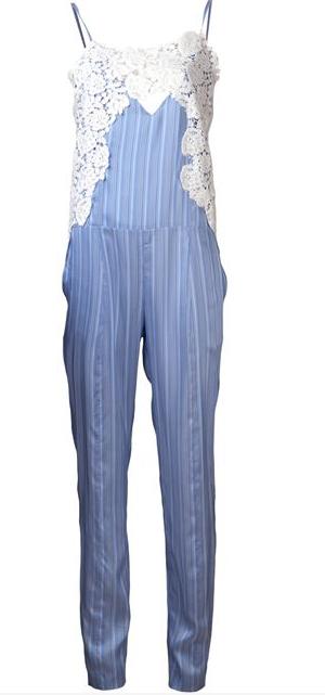 THAKOON stripe jumpsuit Shop With Sally Sally Lyndley Fashion Stylist