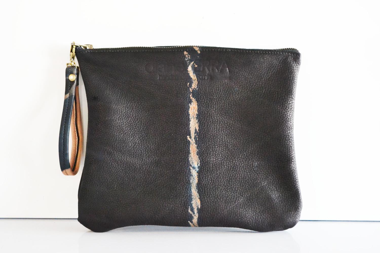 Diane Serra Leather Pouch Sally Lyndley